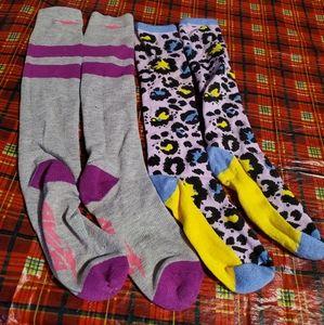 2 pair of long socks